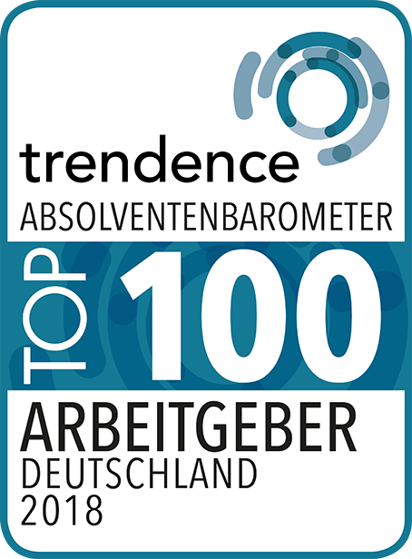 Siegel trendence Absolventenbarometer Top 100 Arbeitgeber Deutschland 2018